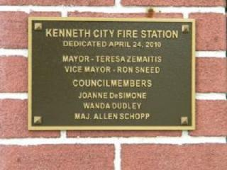 Fire Department Plaque